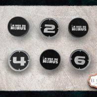 Pack de 6 objetivos de 40mm